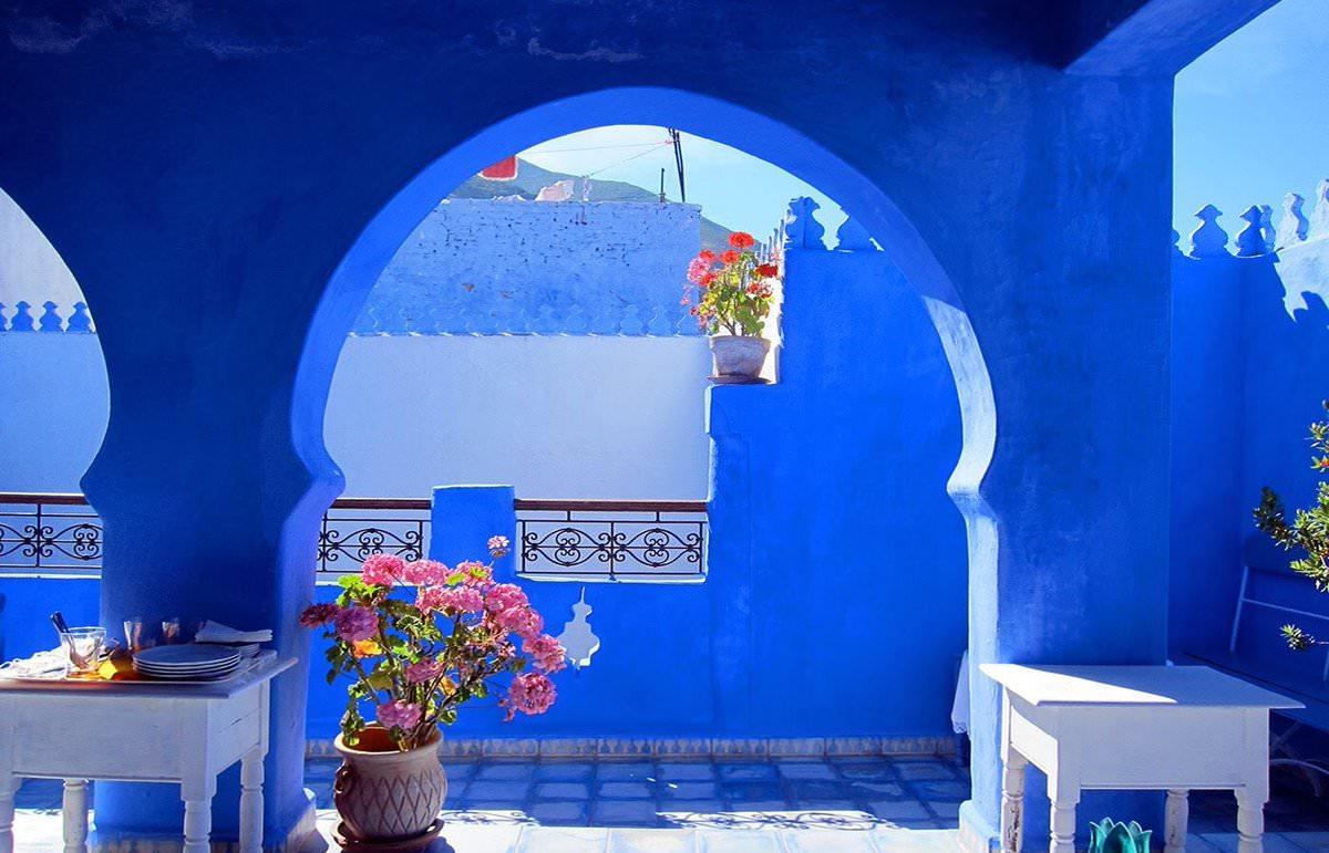 Синий город Шавен. Марокко